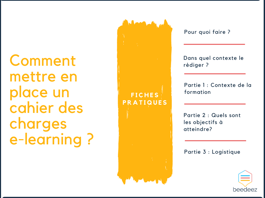 Comment mettre en place un cahier des charges e-learning ?