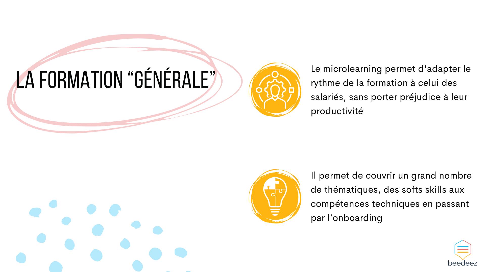 """La formation """"générale"""""""