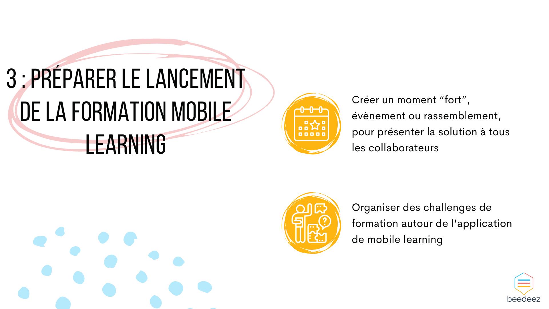 Préparer le lancement de la formation mobile learning