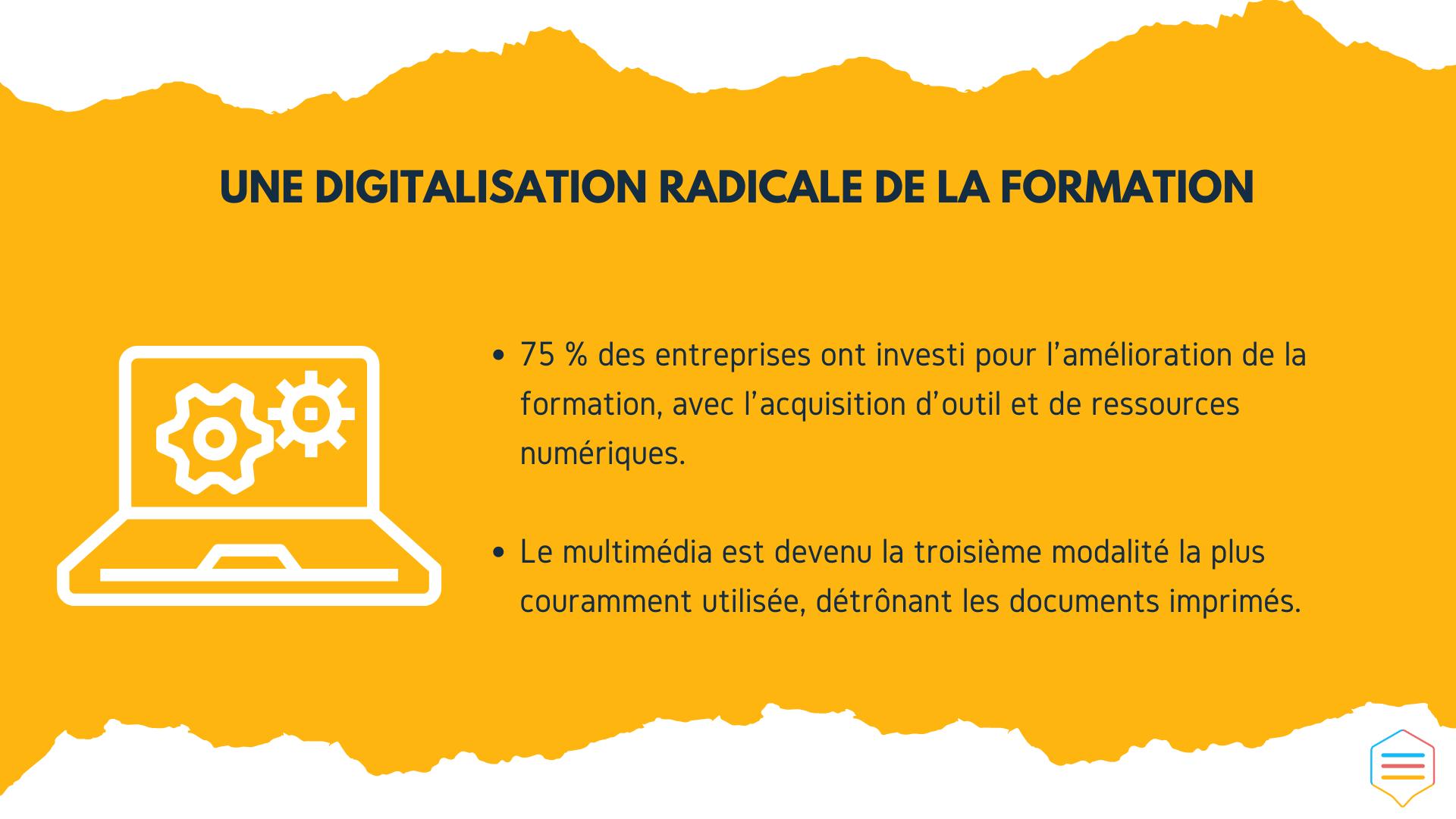 Une digitalisation radicale de la formation