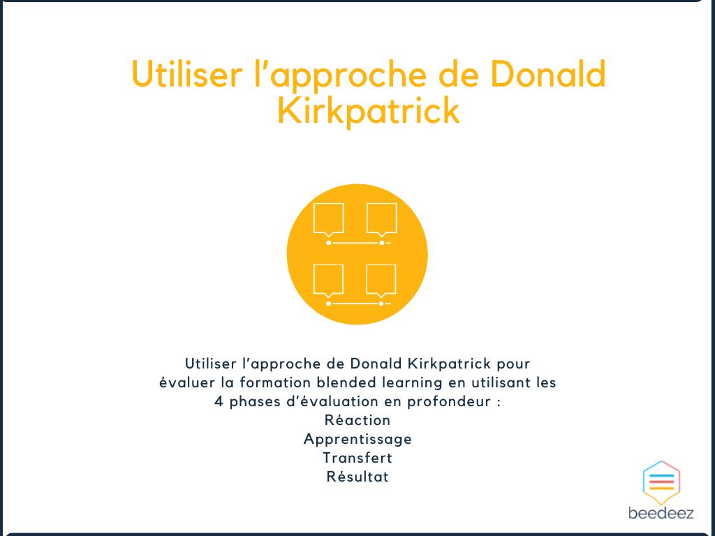 Utiliser l'approche de Donald Kirkpatrick