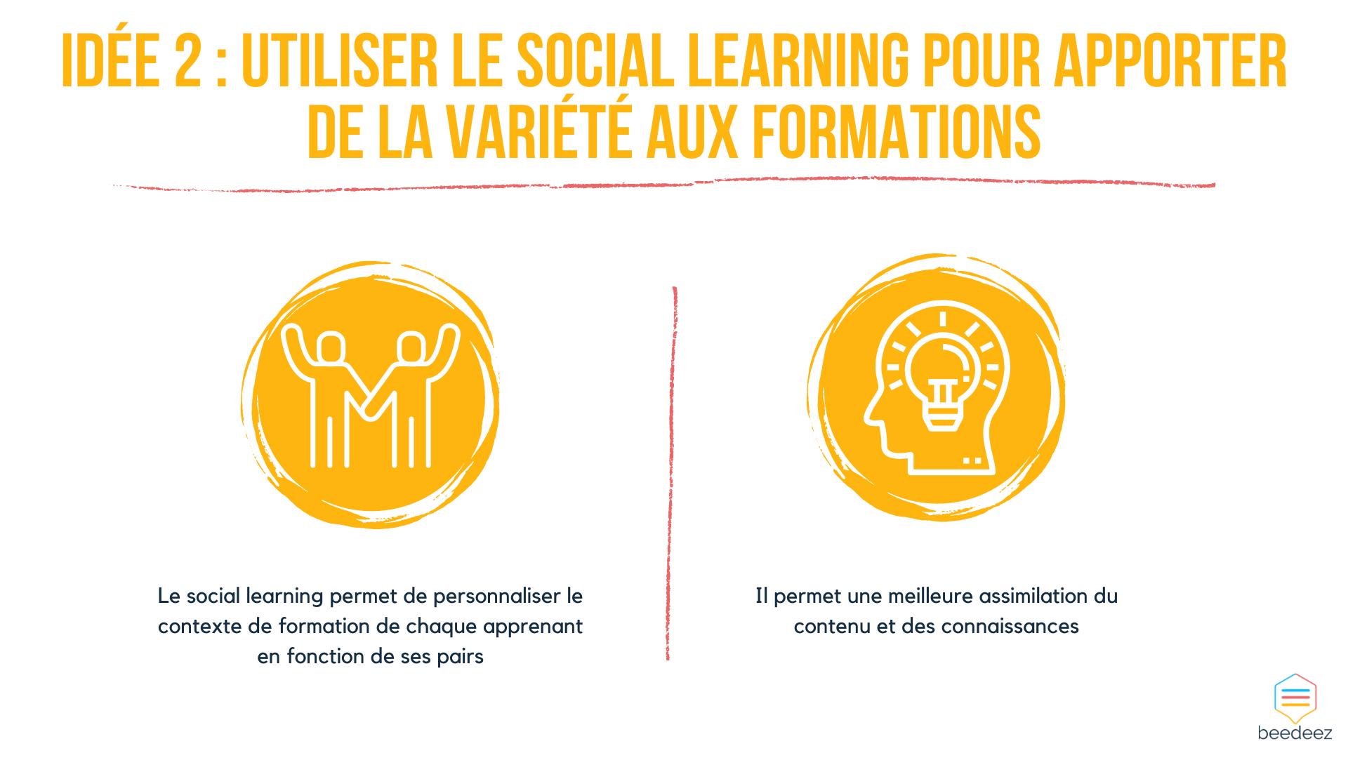 Utiliser le social learning pour apporter de la variété aux formations
