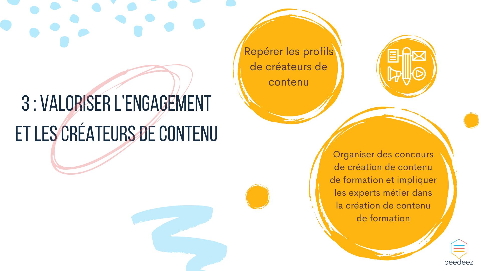 Valoriser l'engagement et les créateurs de contenu