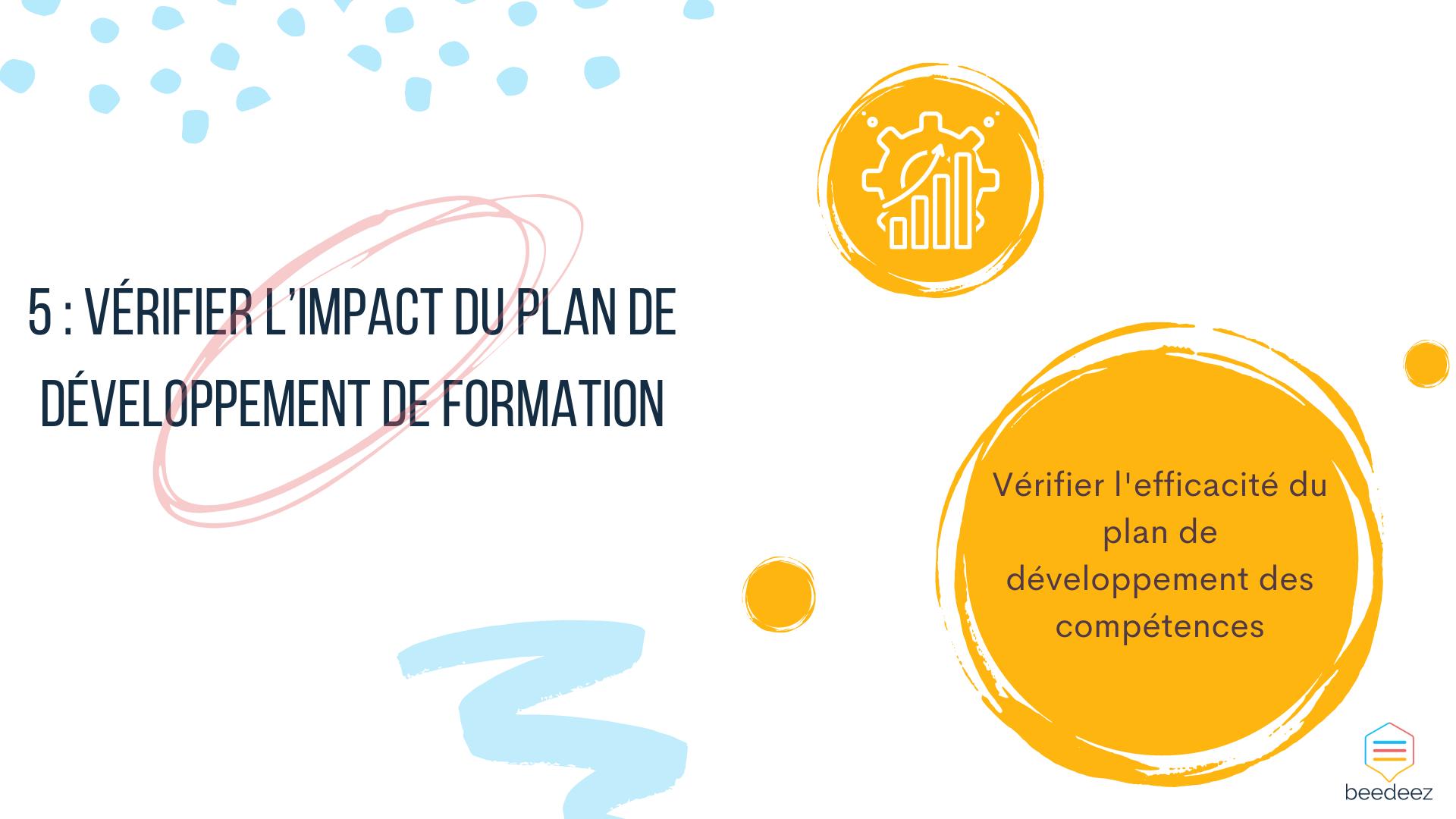 Vérifier l'impact du plan de développement de formation