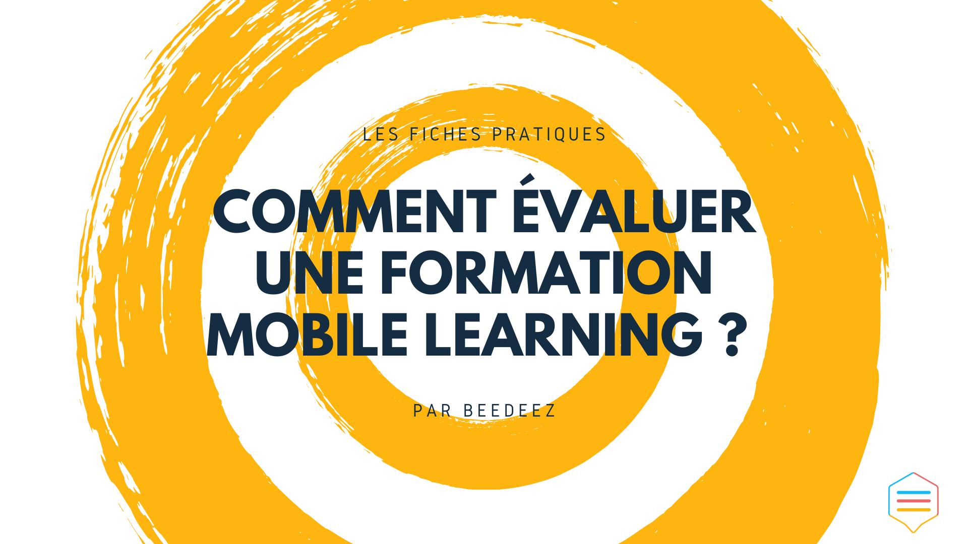 comment évaluer une formation mobile learning
