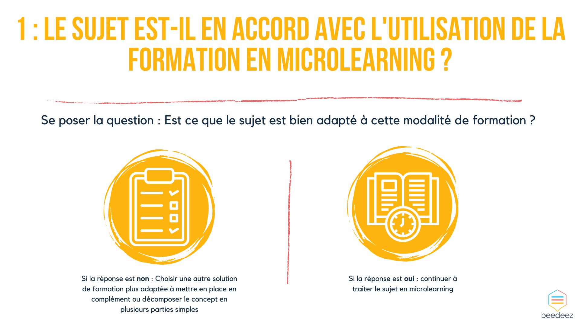 sujet en accord avec lutilisation du microlearning